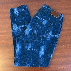 EUC Ralph Lauren Premier Skinny High-rise Tie Dye